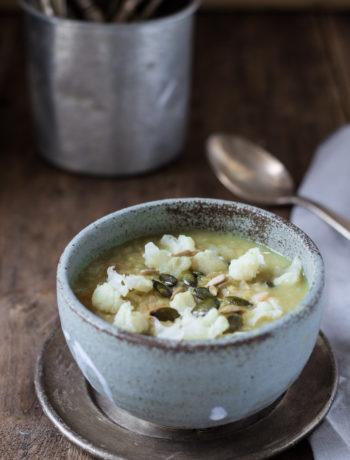 zuppa di piselli secchi e cavolfiore - Cardamomo & co