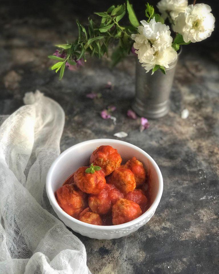 Polpettine con la salsa - Cardamomo & co