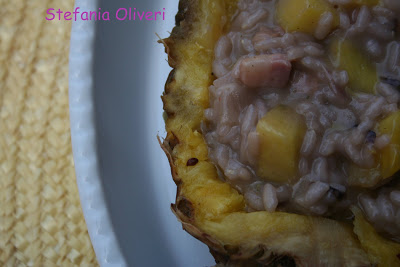 Risotto Radicchio, Ananas e Pancetta