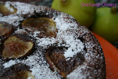 Torta cioccolato e fichi alle mandorle - Cardamomo & co