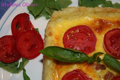 Crostata di riso salata con pomodorini - Cardamomo & co