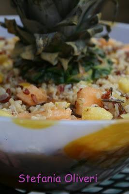 Insalata di riso selvatico con frutta - Cardamomo & co