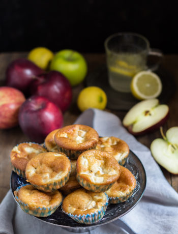 Muffin alle mele e mandorle senza glutine - Cardamomo & co