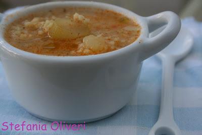 minestra di miglio estiva con zucchine e patate - Cardamomo & co