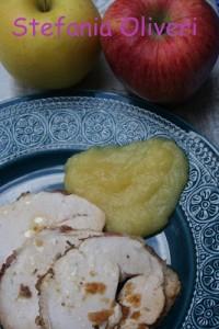 tacchino e purè di mele ricetta light - Cardamomo & co