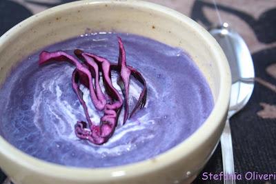 Vellutata di cavolo viola senza glutine - Cardamomo & co