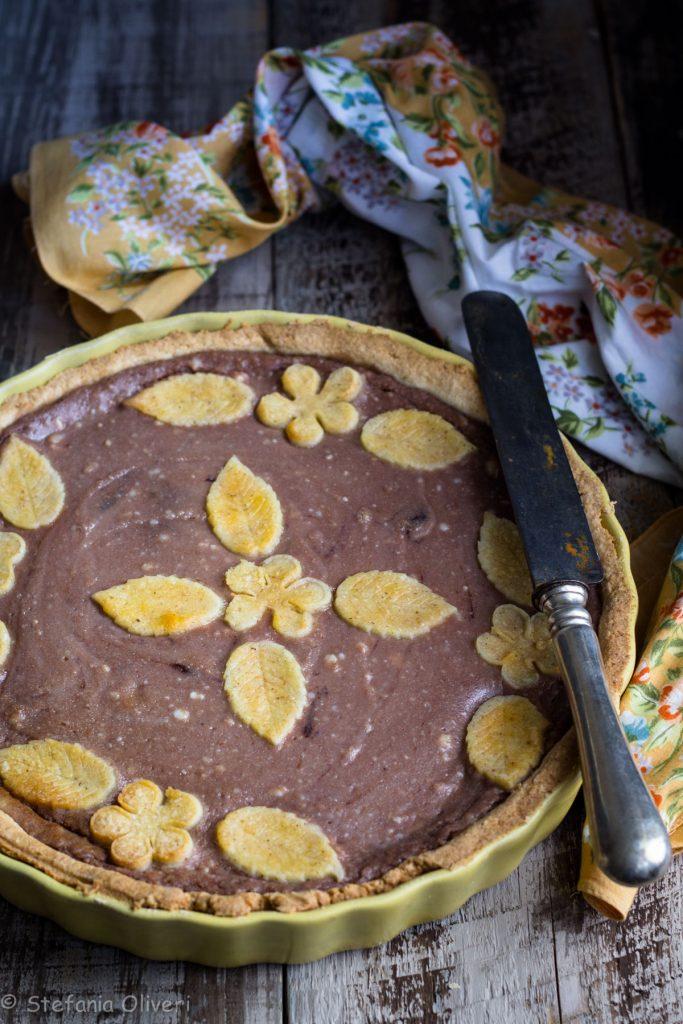 Crostata ricotta e nutella con frolla al grano saraceno - Cardamomo & co
