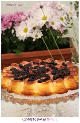 cheesecake ai mirtilli cotta senza glutine - Cardamomo & co
