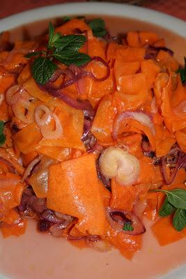 Zucca e cipolle crudiste - Cardamomo & co