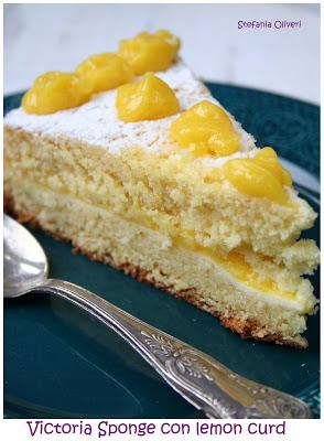 Victoria Sponge con Lemon Curd - Cardamomo & co