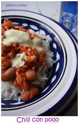 Chili con pollo light con riso basmati - Cardamomo & co