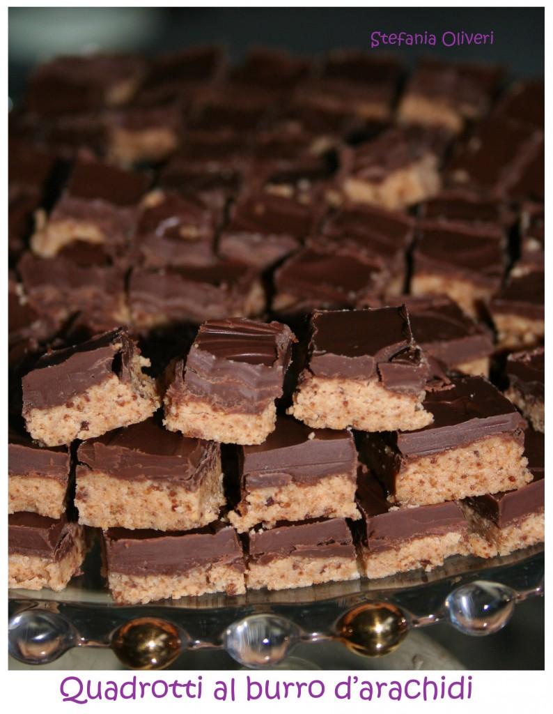 quadrotti al cioccolato e burro d'arachidi - Cardamomo & co