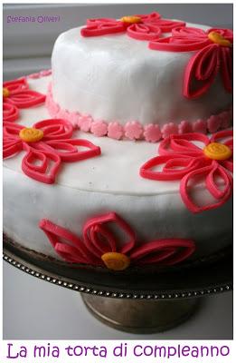 torta fiori quilling in pasta di zucchero senza glutine - Cardamomo & co