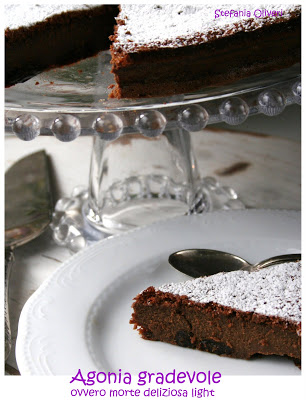 torta cioccolato e uvetta light - Cardamomo & co