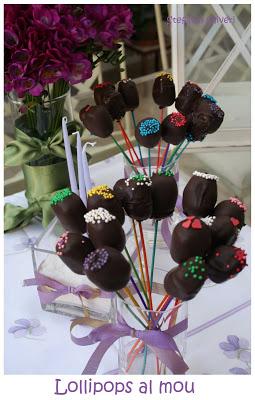Lollipos senza glutine al mou e cioccolato - Cardamomo & co