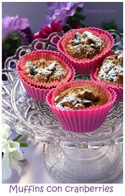 Muffins light con cranberries - Cardamomo & co