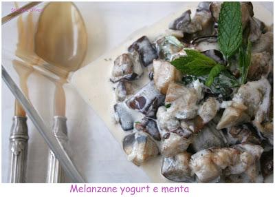 Melanzane greche con yogurt e menta - Cardamomo & co