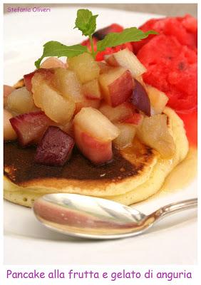 Pancake alla frutta e gelato di anguria - Cardamomo & co