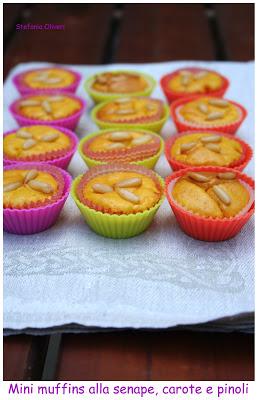 Muffins salati alle mandorle, carote e senape - Cardamomo & co