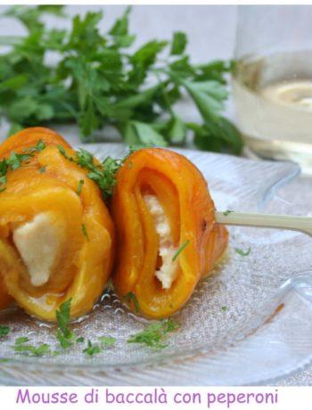 mousse di baccalà con peperoni - Cardamomo & co