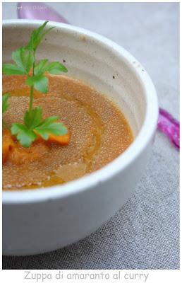 Zuppa di amaranto con carote al curry - Cardamomo & co