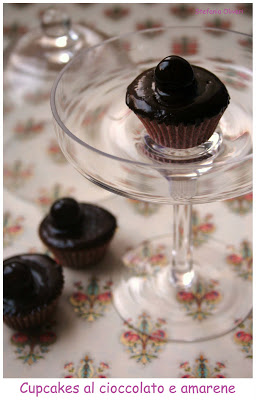 Cupcakes al cioccolato e amarene senza glutine - Cardamomo & co