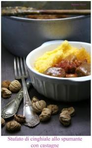 Stufato di cinghiale allo spumante con castagne secche - Cardamomo & co