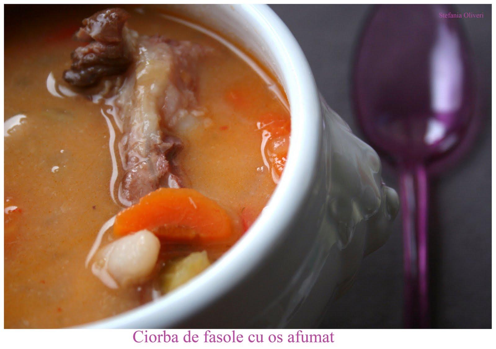 Zuppa di fagioli con carne affumicata rumena - Cardamomo & co