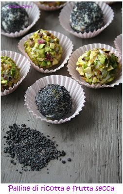palline di ricotta con frutta secca - Cardamomo & co