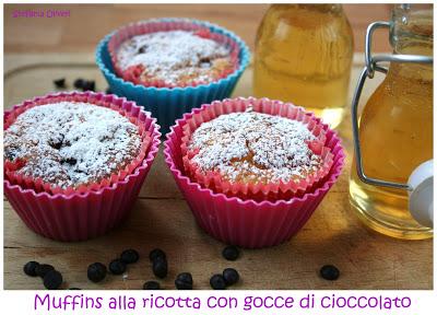 Muffin ricotta e cioccolato - Cardamomo & co