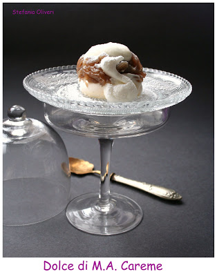 Meringa con crema di marroni e panna, dolce di Careme - Cardamomo & co