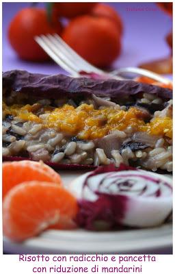 Risotto al radicchio con salsa al mandarino - Cardamomo & co