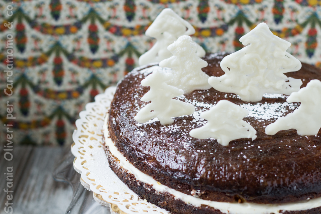 Torta arancia e cioccolato bianco, natalizia - Cardamomo & co