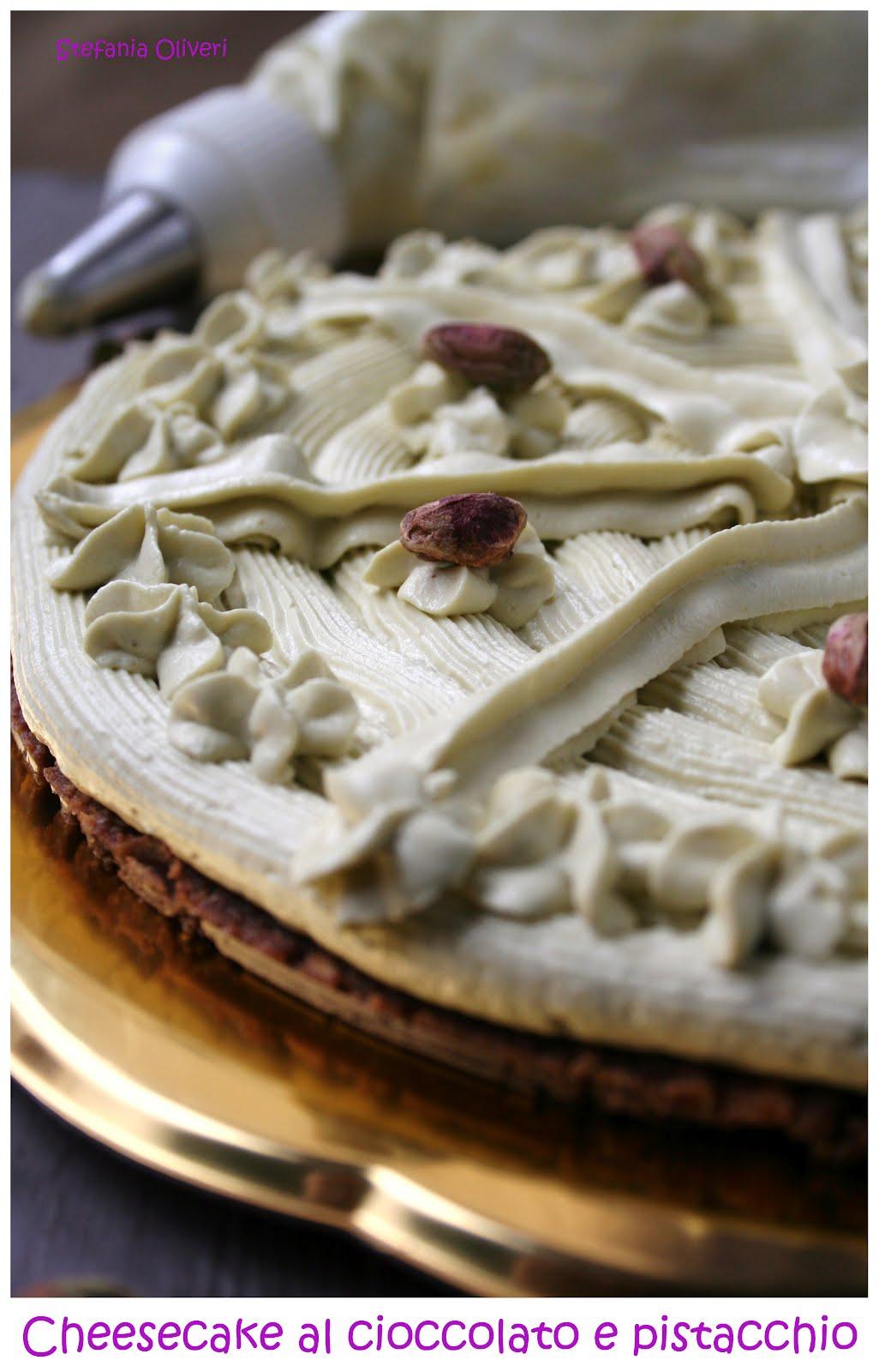 cheesecake al cioccolato e pistacchi - Cardamomo & co