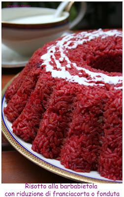 Risotto alla barbabietola con salsa al Franciacorta - Cardamomo & co