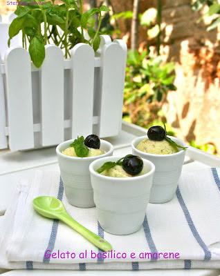Gelato al basilico e amarene - Cardamomo & co