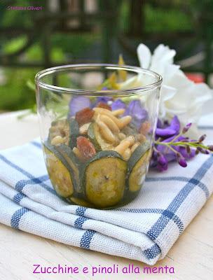 Zucchine e pinoli alla menta - Cardamomo & co