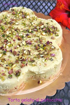 torta gelato alla nutella e al pistacchio senza glutine
