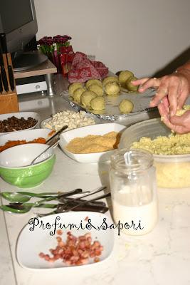 Preparazione arancine - Cardamomo & co