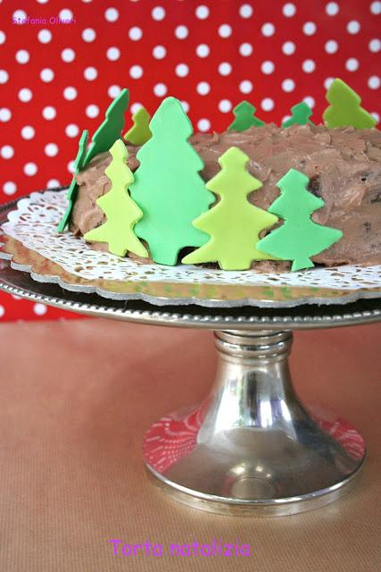 Torta natalizia senza glutine con abeti mi pdz - Cardamomo & co