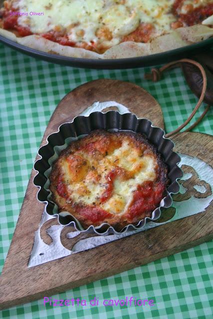 Pizza di cavolfiore, senza farina e light - Cardamomo & co
