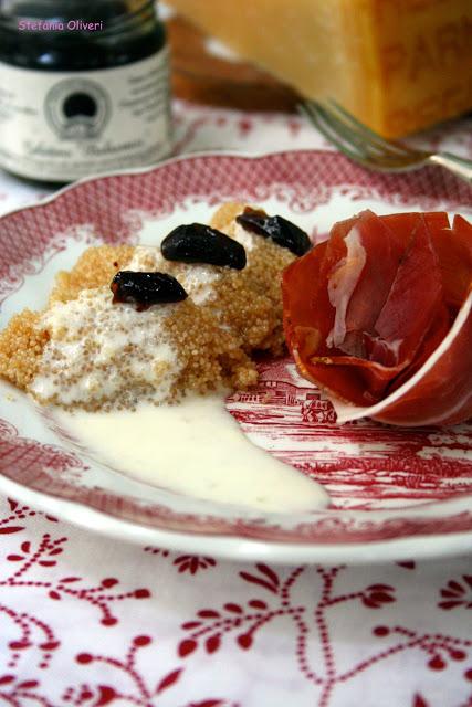 Amaranto con fonduta di parmigiano - Cardamomo & co