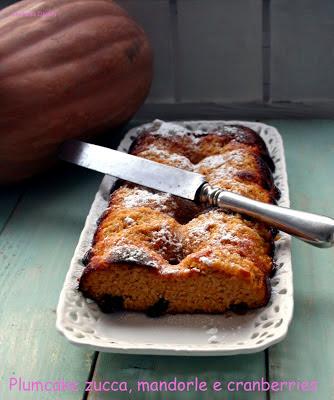 Plumcake alla zucca, mandorle e cranberries - Cardamomo & co