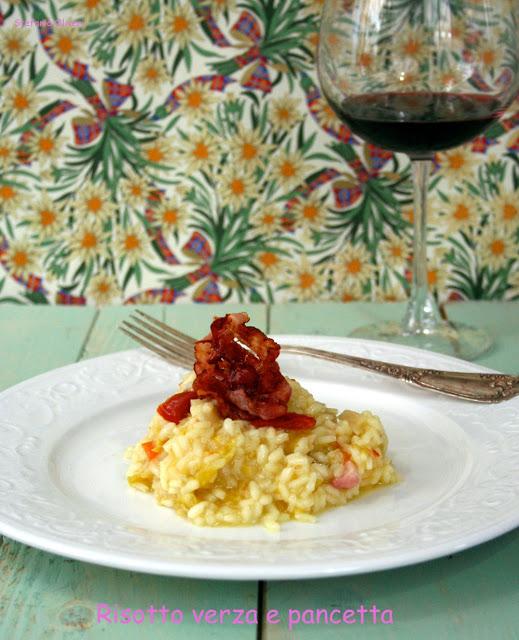 Risotto verza e pancetta - Cardamomo & co
