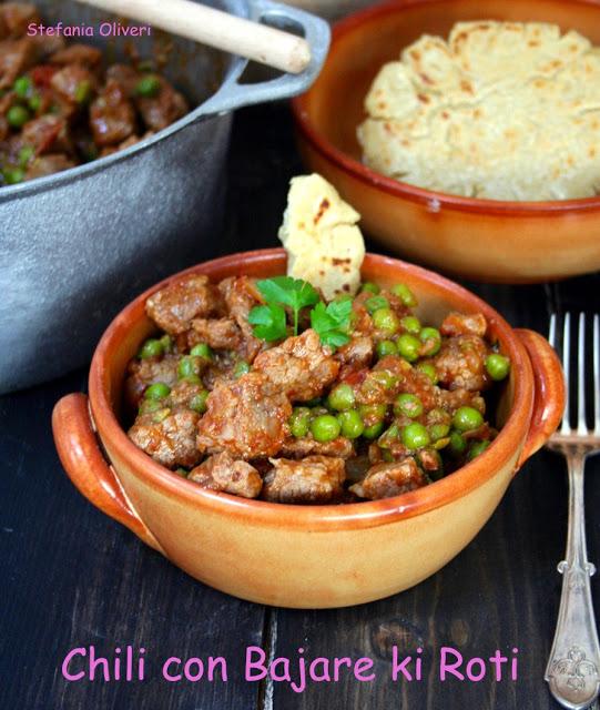 Chili con piselli e pane di miglio indiano - Cardamomo & co