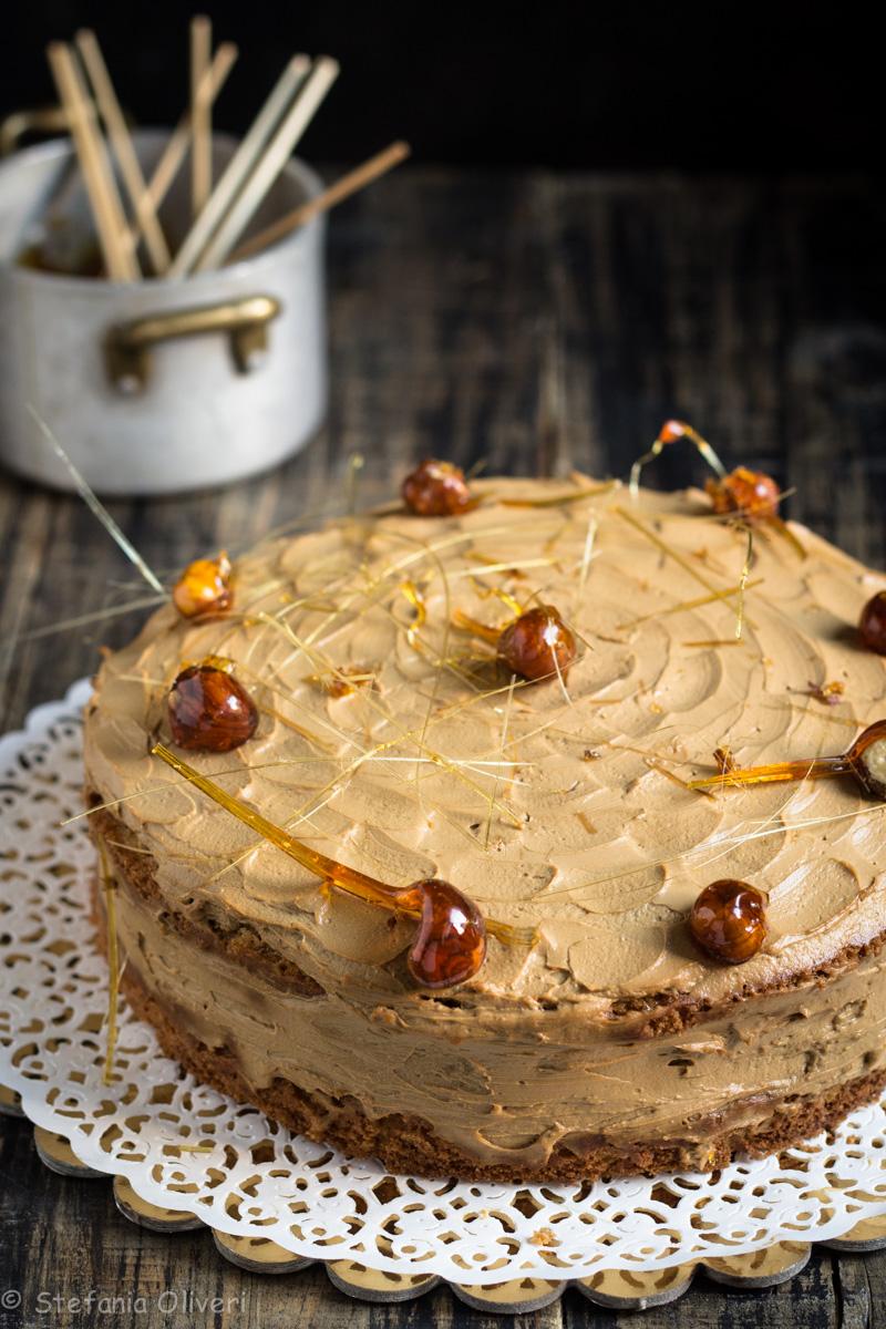 Torta con crema Butterscotch senza glutine - Cardamomo & co