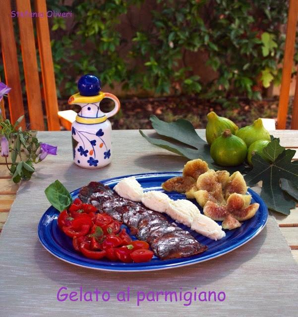 Gelato al parmigiano e chorizo (parmesan ice cream)