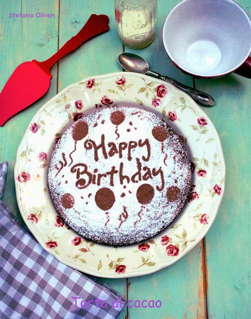 Torta al cacao gluten free per un compleanno - Cardamomo & co