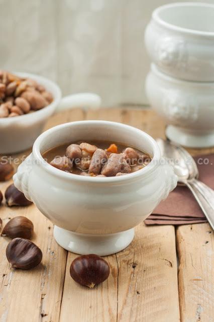 Zuppa di fagioli con castagne