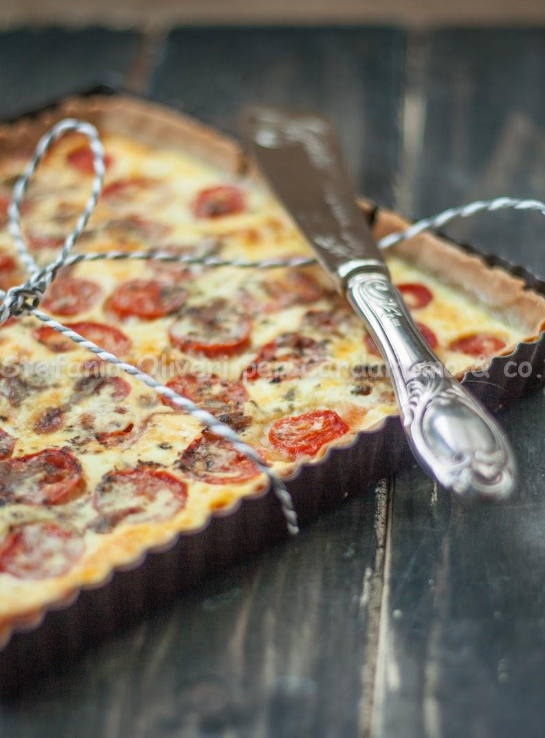 Quiche alla pizzaiola napoletana - Cardamomo & co